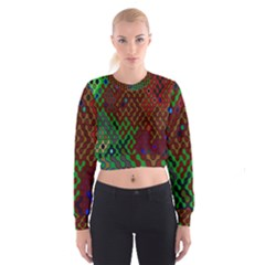 Psychedelic Abstract Swirl Women s Cropped Sweatshirt