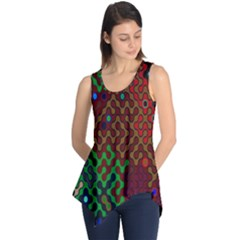 Psychedelic Abstract Swirl Sleeveless Tunic