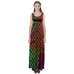 Psychedelic Abstract Swirl Empire Waist Maxi Dress