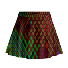 Psychedelic Abstract Swirl Mini Flare Skirt