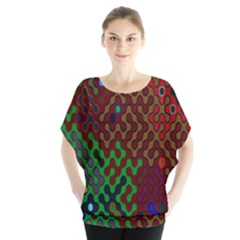 Psychedelic Abstract Swirl Blouse