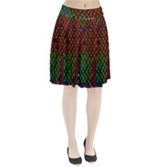 Psychedelic Abstract Swirl Pleated Skirt
