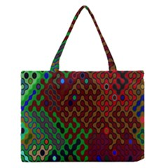 Psychedelic Abstract Swirl Medium Zipper Tote Bag