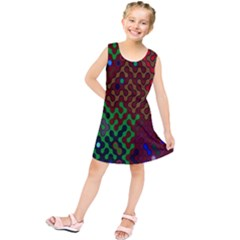 Psychedelic Abstract Swirl Kids  Tunic Dress