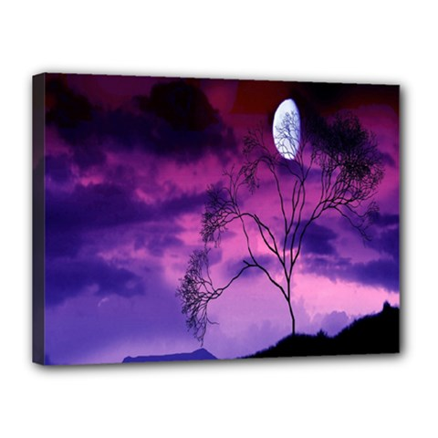 Purple Sky Canvas 16  x 12