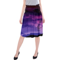 Purple Sky Midi Beach Skirt