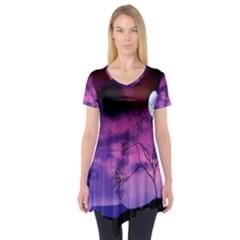 Purple Sky Short Sleeve Tunic