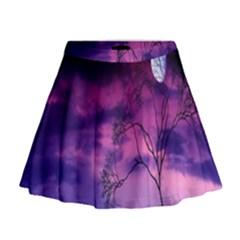 Purple Sky Mini Flare Skirt