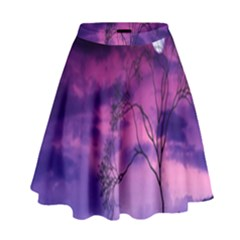 Purple Sky High Waist Skirt