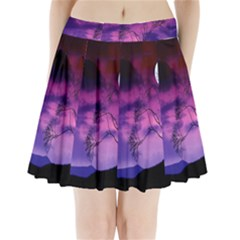 Purple Sky Pleated Mini Skirt