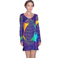 Recycling Arrows Circuit Long Sleeve Nightdress