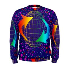 Recycling Arrows Circuit Men s Sweatshirt
