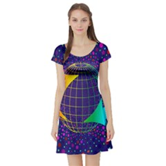 Recycling Arrows Circuit Short Sleeve Skater Dress