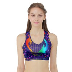 Recycling Arrows Circuit Sports Bra With Border