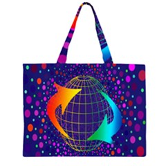 Recycling Arrows Circuit Zipper Large Tote Bag