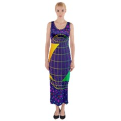 Recycling Arrows Circuit Fitted Maxi Dress