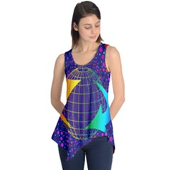 Recycling Arrows Circuit Sleeveless Tunic