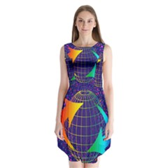 Recycling Arrows Circuit Sleeveless Chiffon Dress