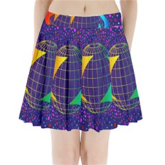 Recycling Arrows Circuit Pleated Mini Skirt
