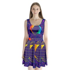 Recycling Arrows Circuit Split Back Mini Dress