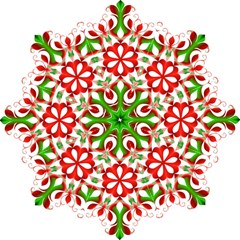 Red And Green Snowflake Folding Umbrellas