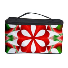 Red And Green Snowflake Cosmetic Storage Case