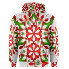Red And Green Snowflake Men s Pullover Hoodie