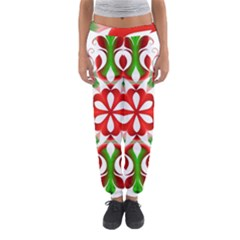 Red And Green Snowflake Women s Jogger Sweatpants