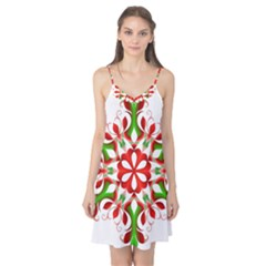 Red And Green Snowflake Camis Nightgown