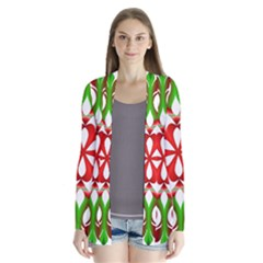 Red And Green Snowflake Cardigans