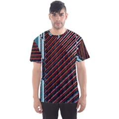 Red And Black High Rise Building Men s Sport Mesh Tee