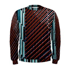 Red And Black High Rise Building Men s Sweatshirt