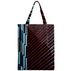 Red And Black High Rise Building Zipper Classic Tote Bag