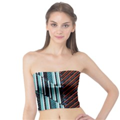 Red And Black High Rise Building Tube Top