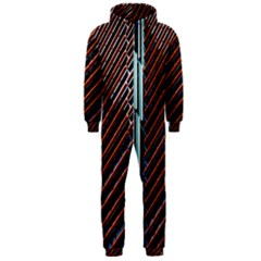 Red And Black High Rise Building Hooded Jumpsuit (Men)