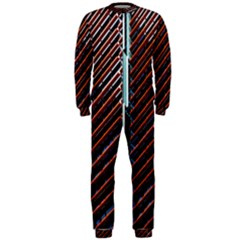 Red And Black High Rise Building Onepiece Jumpsuit (men)