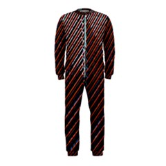 Red And Black High Rise Building Onepiece Jumpsuit (kids)