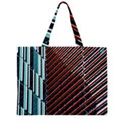 Red And Black High Rise Building Large Tote Bag