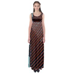 Red And Black High Rise Building Empire Waist Maxi Dress