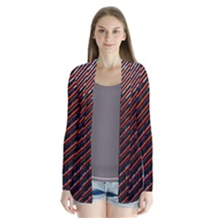Red And Black High Rise Building Cardigans