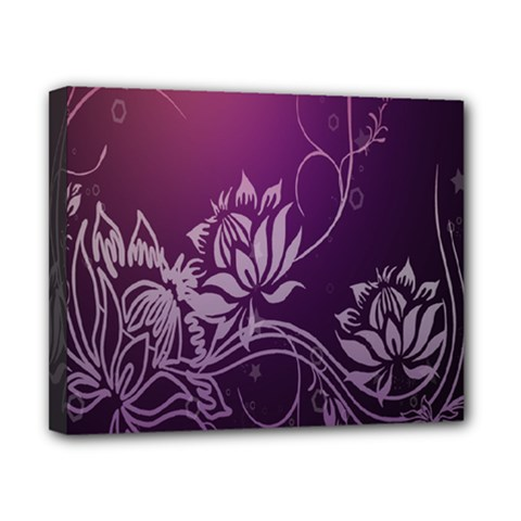 Purple Lotus Canvas 10  x 8