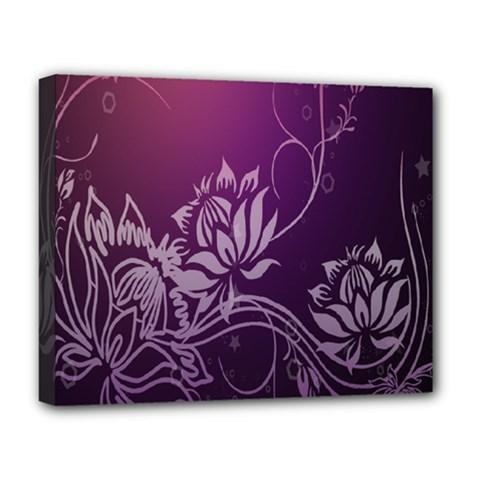 Purple Lotus Deluxe Canvas 20  x 16