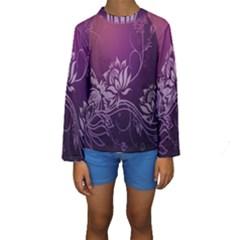 Purple Lotus Kids  Long Sleeve Swimwear