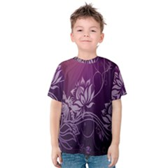 Purple Lotus Kids  Cotton Tee
