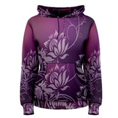 Purple Lotus Women s Pullover Hoodie