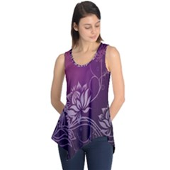 Purple Lotus Sleeveless Tunic