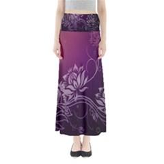 Purple Lotus Maxi Skirts