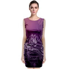 Purple Lotus Classic Sleeveless Midi Dress