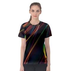 Rainbow Ribbons Women s Sport Mesh Tee