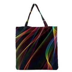 Rainbow Ribbons Grocery Tote Bag